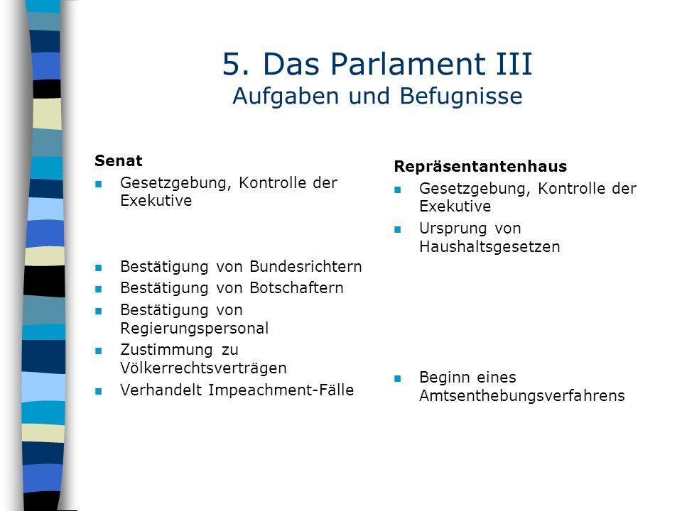 5. Das Parlament III Aufgaben und Befugnisse
