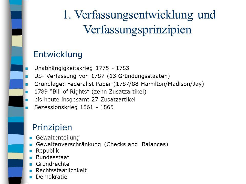 1. Verfassungsentwicklung und Verfassungsprinzipien
