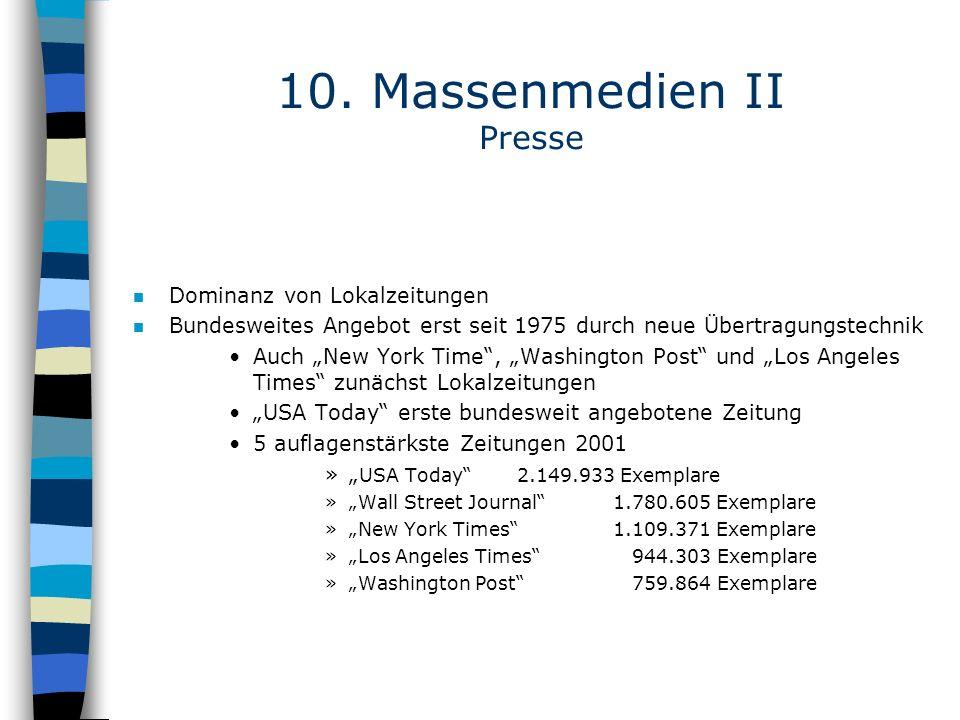 10. Massenmedien II Presse