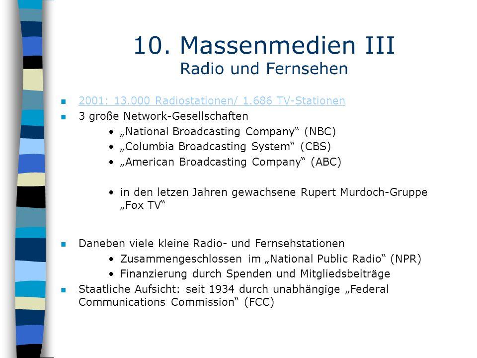 10. Massenmedien III Radio und Fernsehen