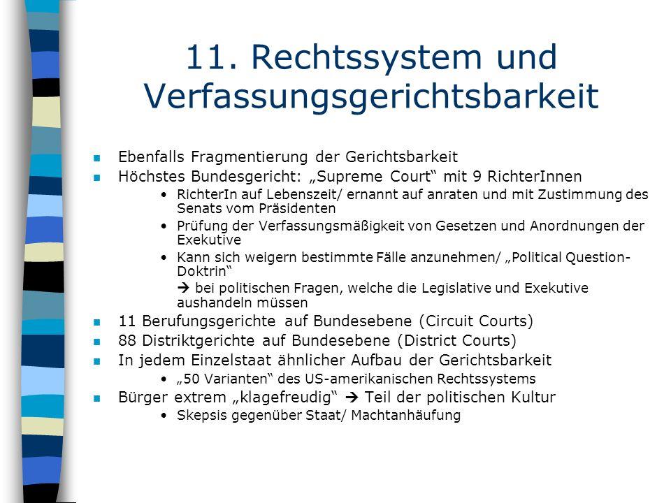 11. Rechtssystem und Verfassungsgerichtsbarkeit