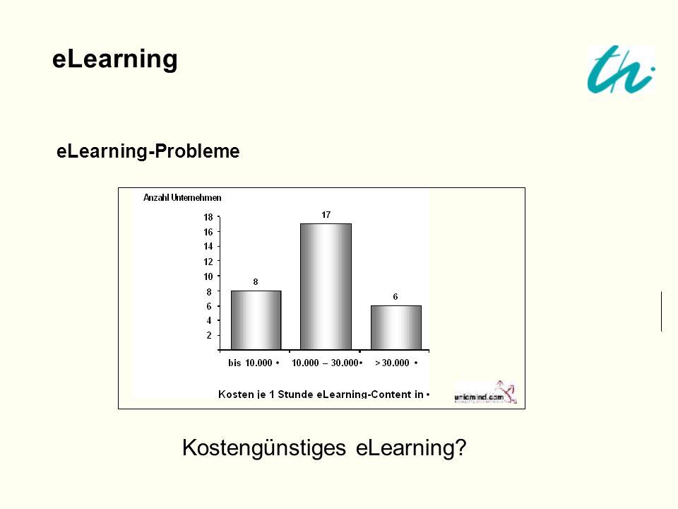 eLearning eLearning-Probleme Kostengünstiges eLearning