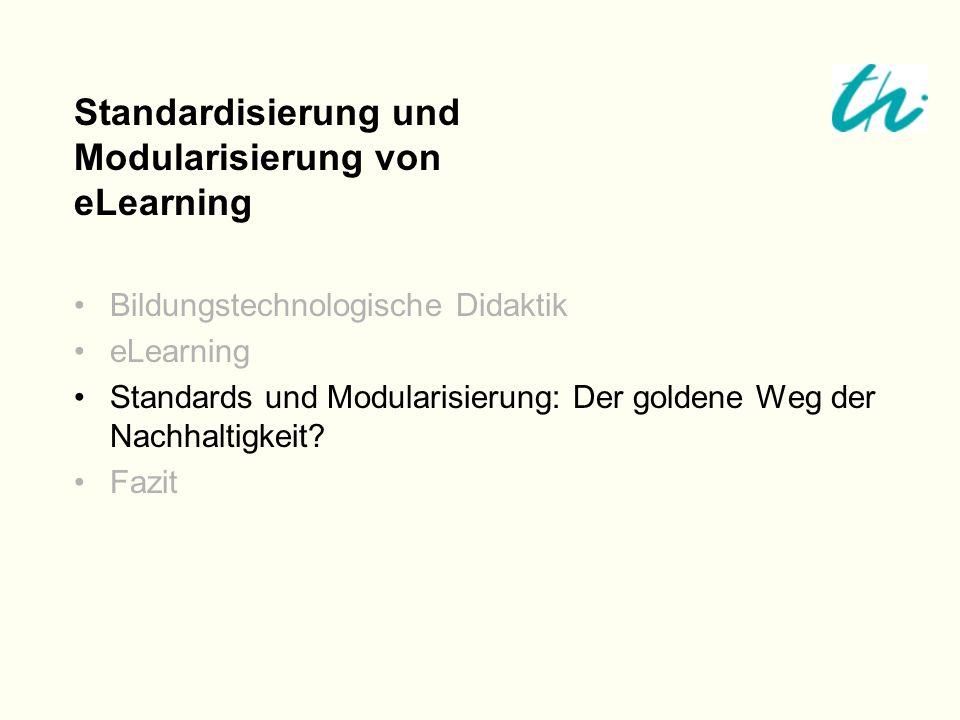 Standardisierung und Modularisierung von eLearning
