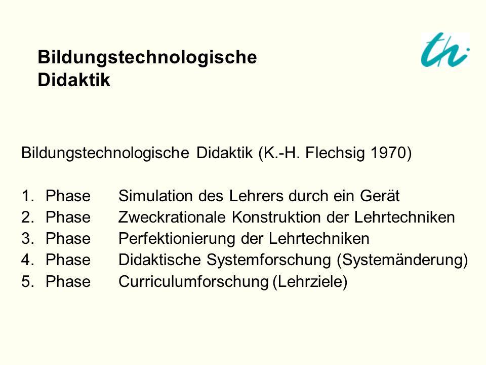 Bildungstechnologische Didaktik