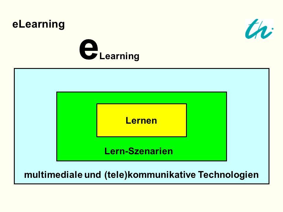 eLearning eLearning Lernen Lern-Szenarien