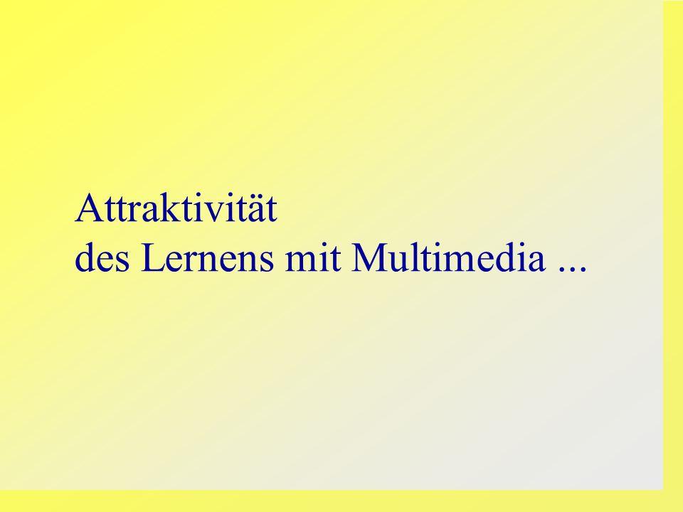 Attraktivität des Lernens mit Multimedia ...