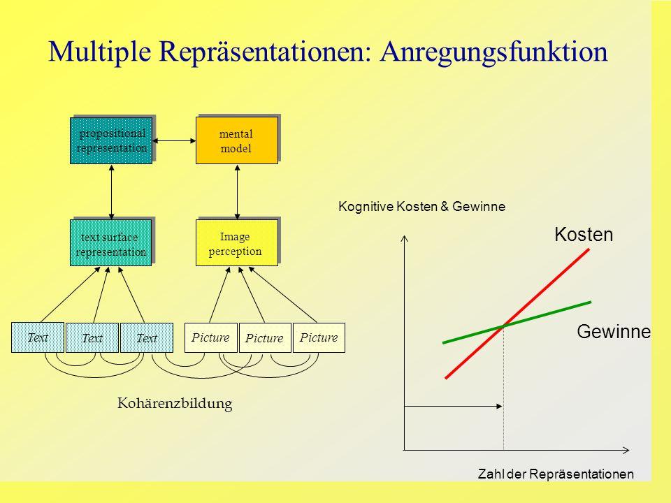 Multiple Repräsentationen: Anregungsfunktion