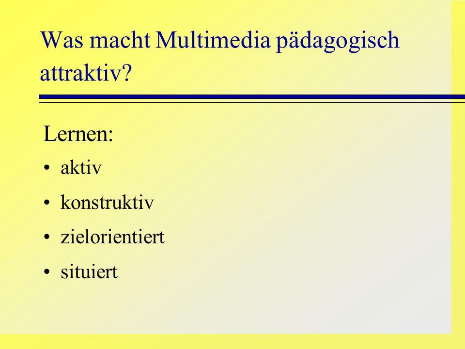 Was macht Multimedia pädagogisch attraktiv