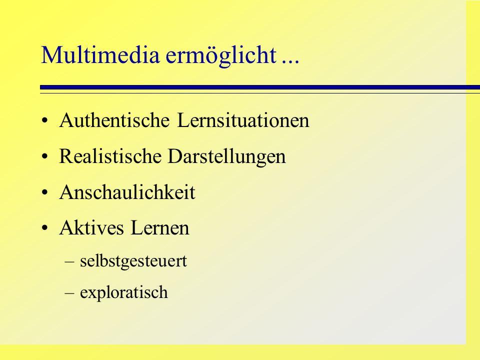 Multimedia ermöglicht ...