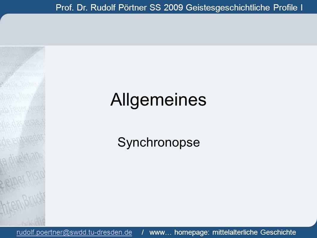 Allgemeines Synchronopse