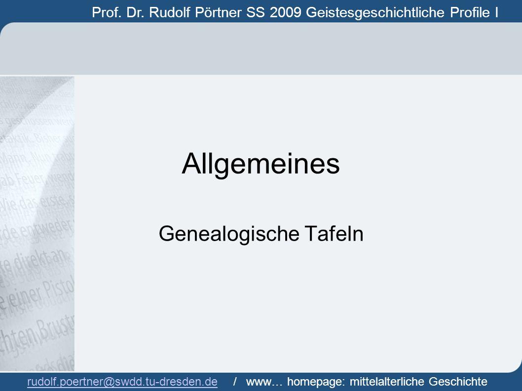 Allgemeines Genealogische Tafeln