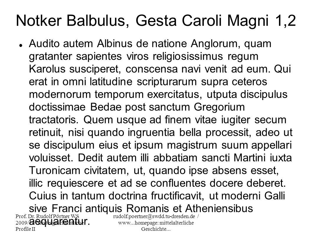 Notker Balbulus, Gesta Caroli Magni 1,2