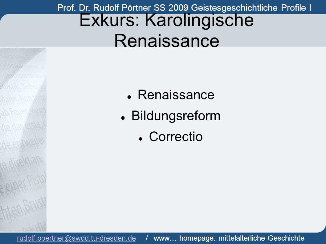 Exkurs: Karolingische Renaissance