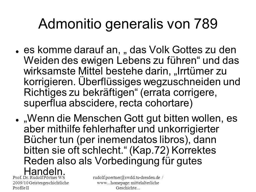 Admonitio generalis von 789