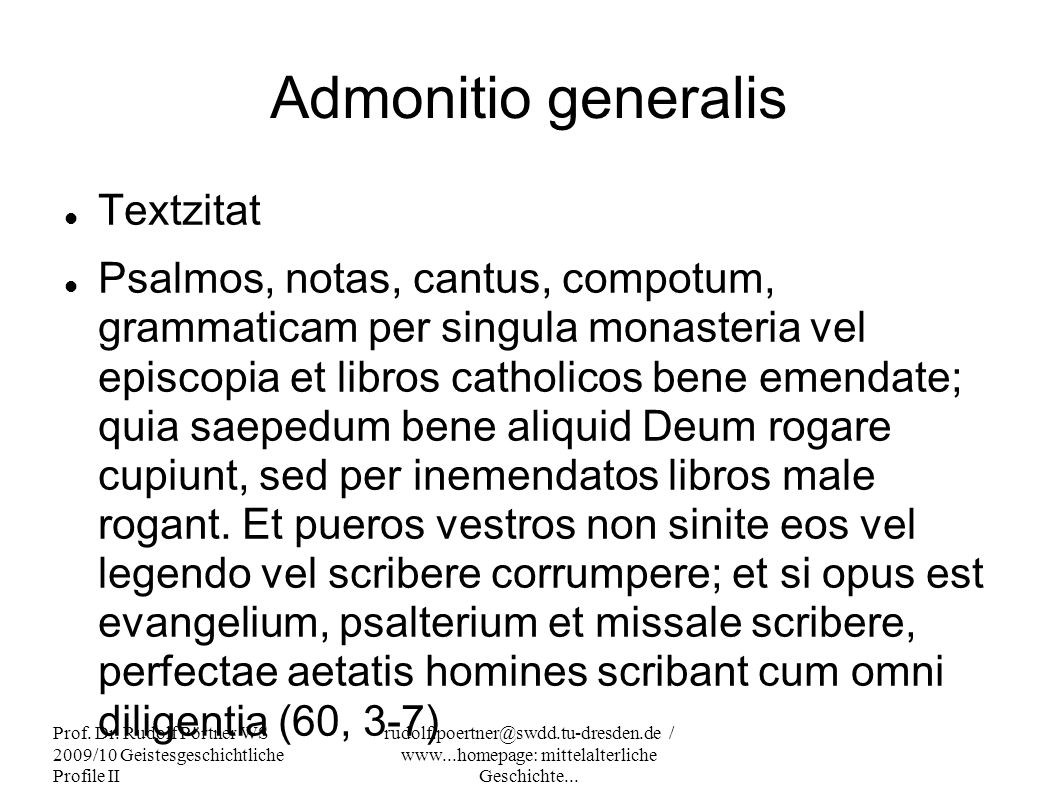 Admonitio generalis Textzitat