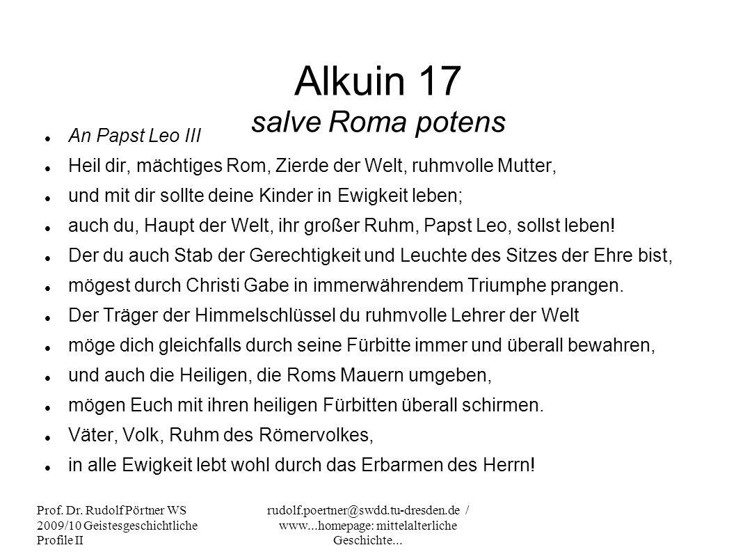 Alkuin 17 salve Roma potens