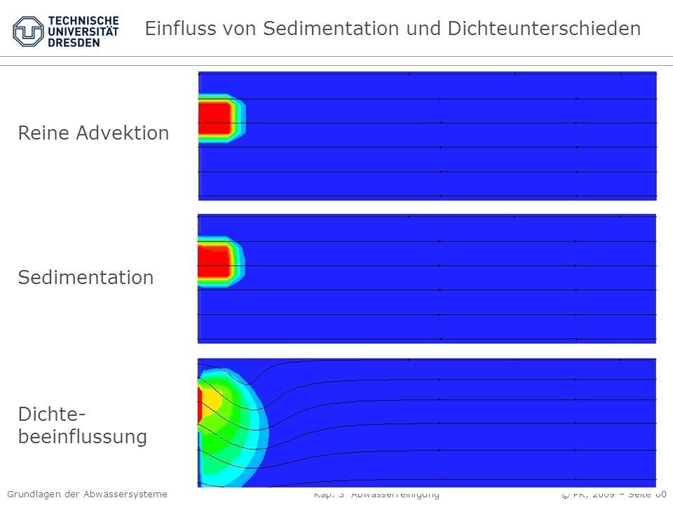 Einfluss von Sedimentation und Dichteunterschieden