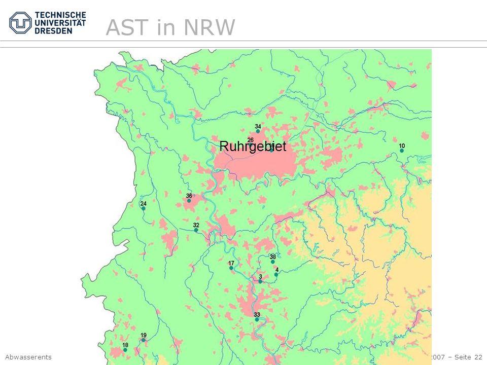 AST in NRW Ruhrgebiet