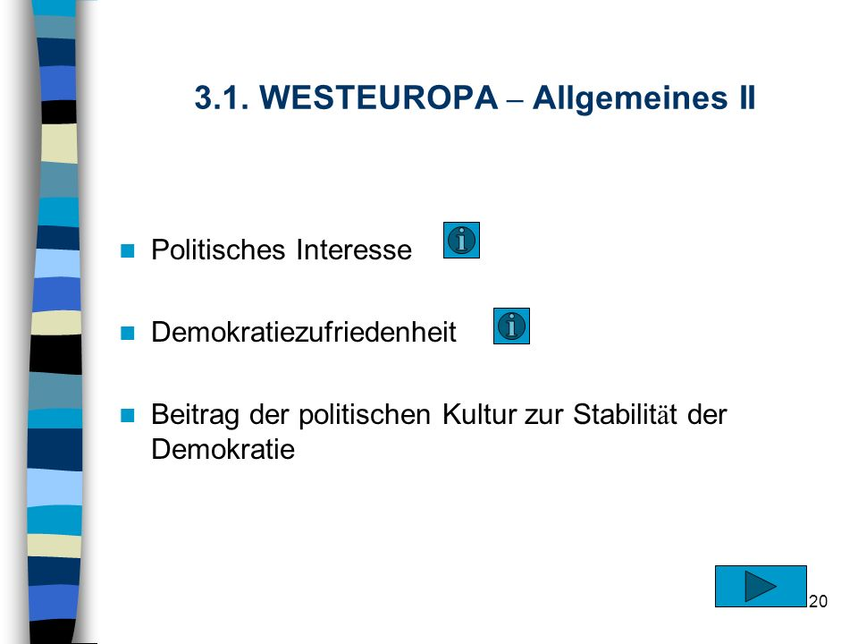 3.1. WESTEUROPA – Allgemeines II
