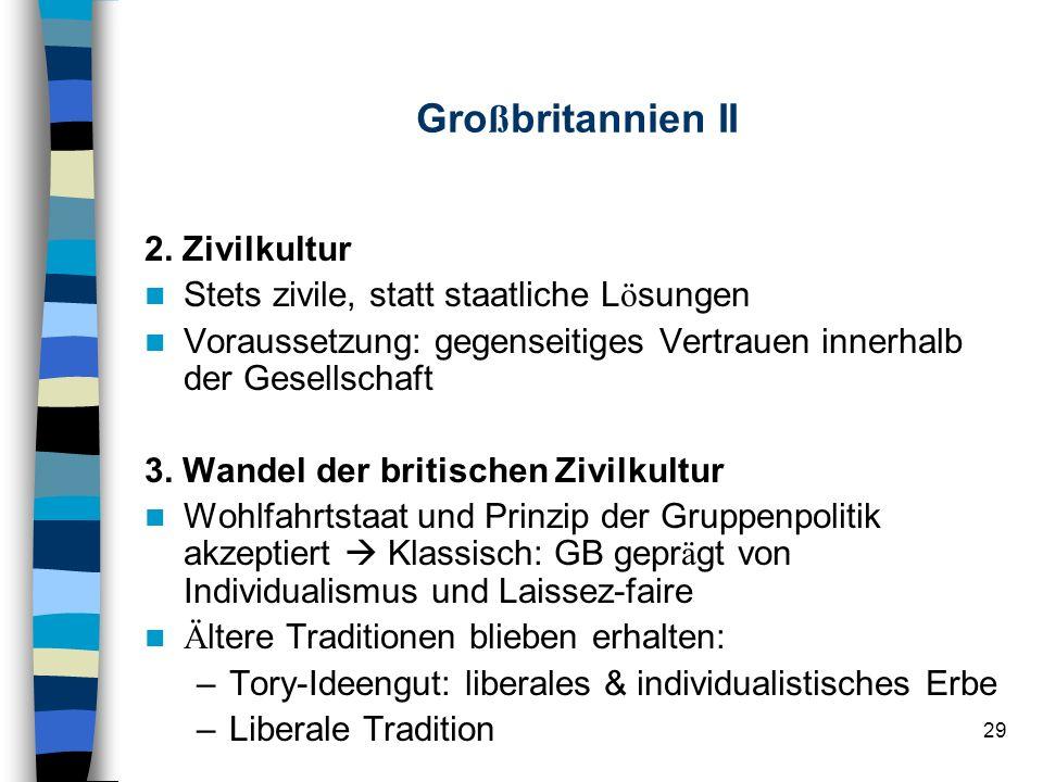 Großbritannien II 2. Zivilkultur