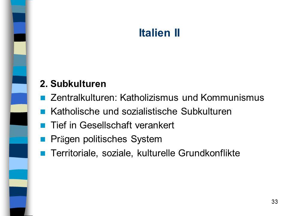 Italien II 2. Subkulturen