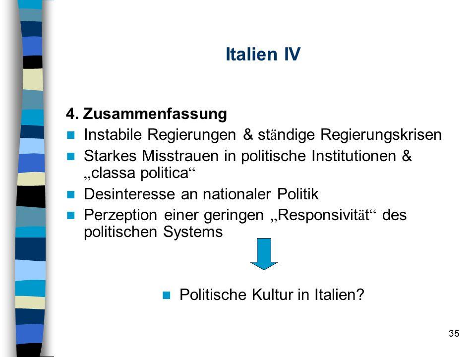Politische Kultur in Italien