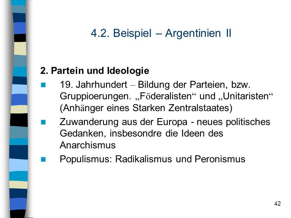 4.2. Beispiel – Argentinien II