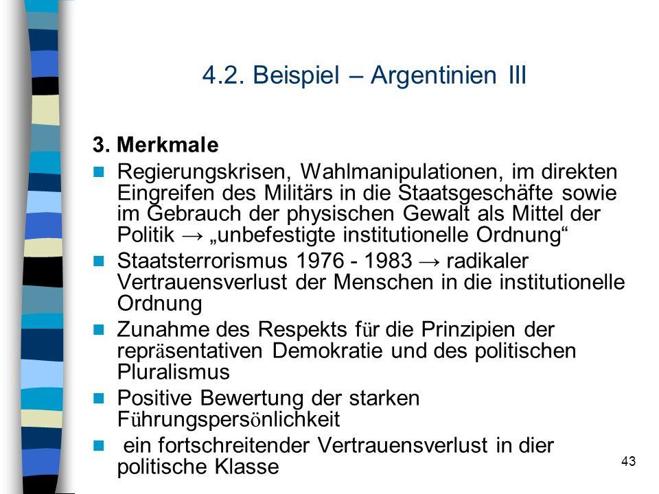 4.2. Beispiel – Argentinien III