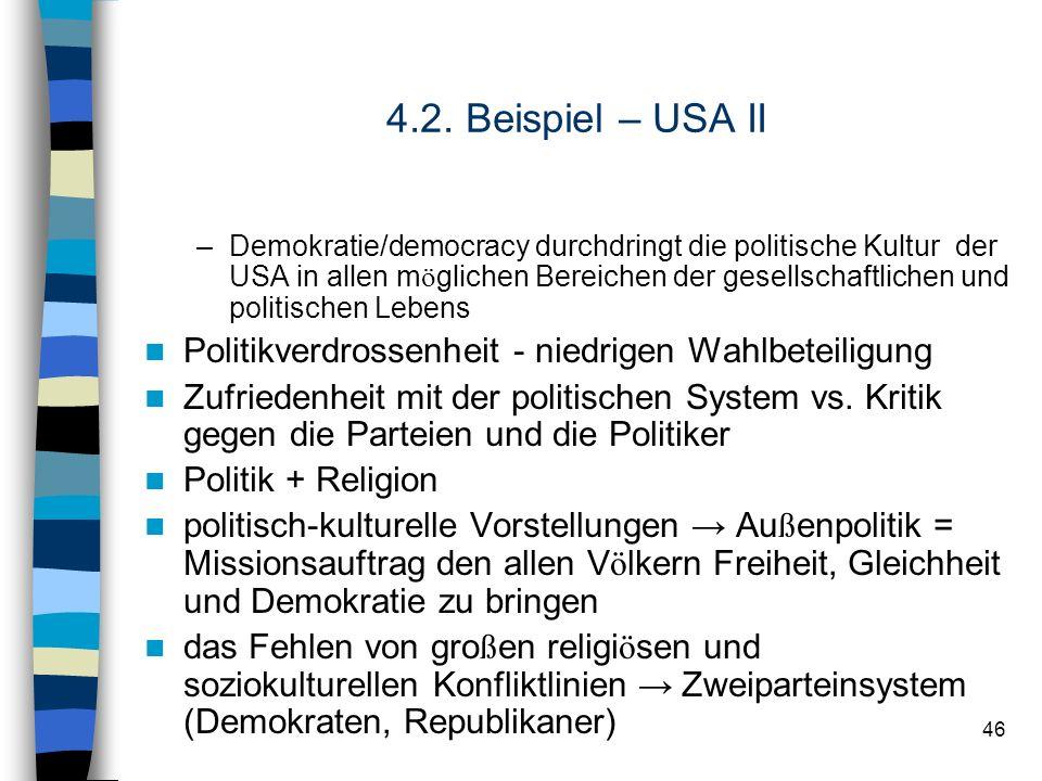 4.2. Beispiel – USA II