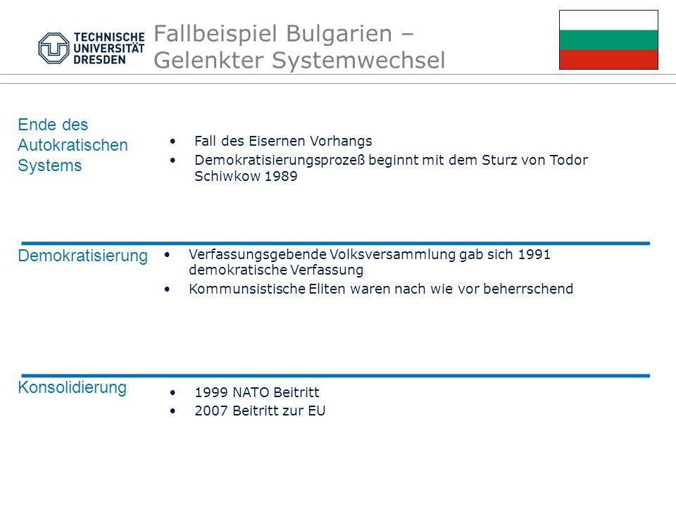 Fallbeispiel Bulgarien – Gelenkter Systemwechsel