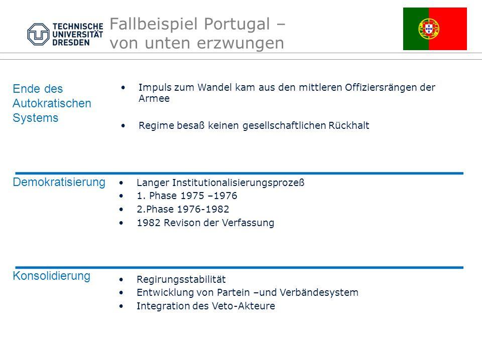 Fallbeispiel Portugal – von unten erzwungen