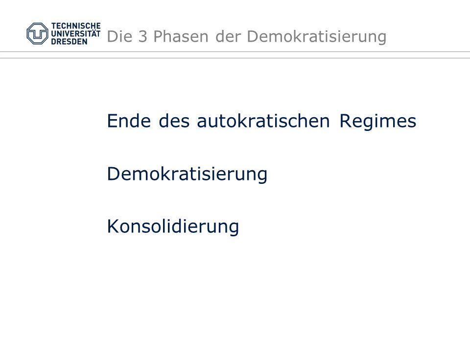 Die 3 Phasen der Demokratisierung