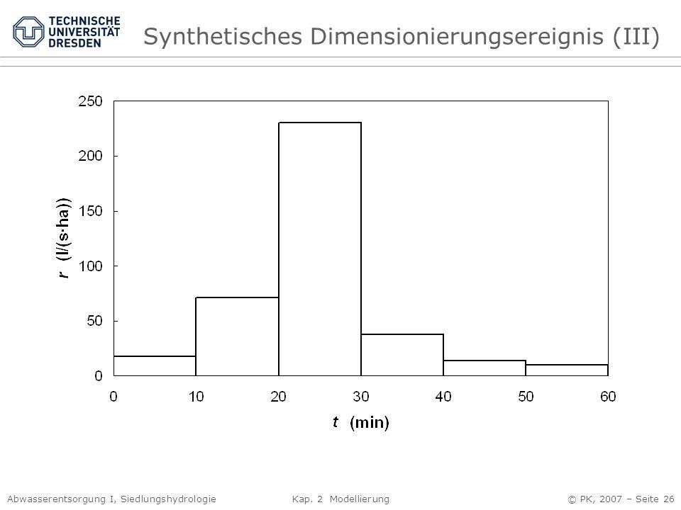 Synthetisches Dimensionierungsereignis (III)