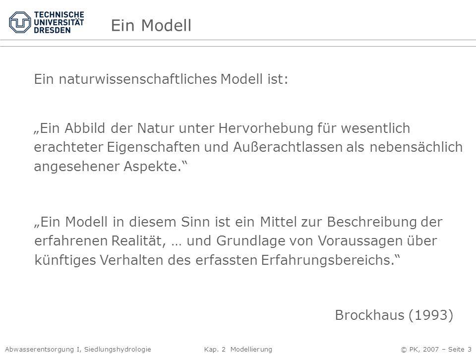 Ein Modell Ein naturwissenschaftliches Modell ist: