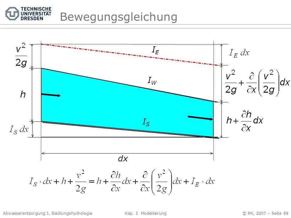 Bewegungsgleichung IE IW IS dx
