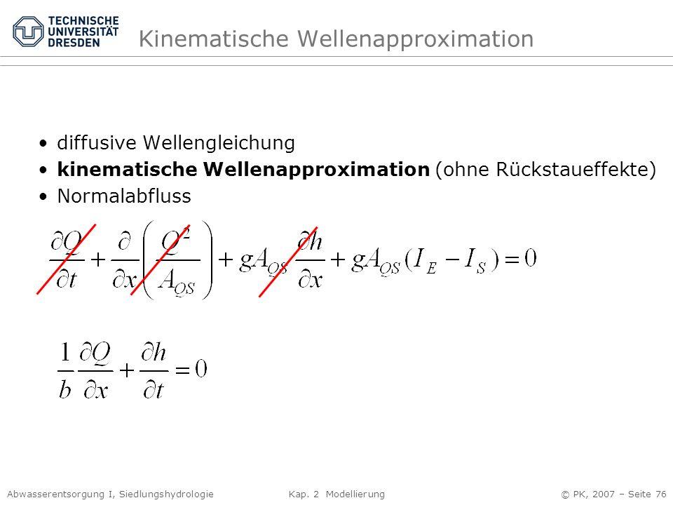 Kinematische Wellenapproximation