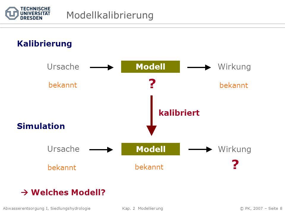 Modellkalibrierung Kalibrierung Ursache Modell Wirkung kalibriert
