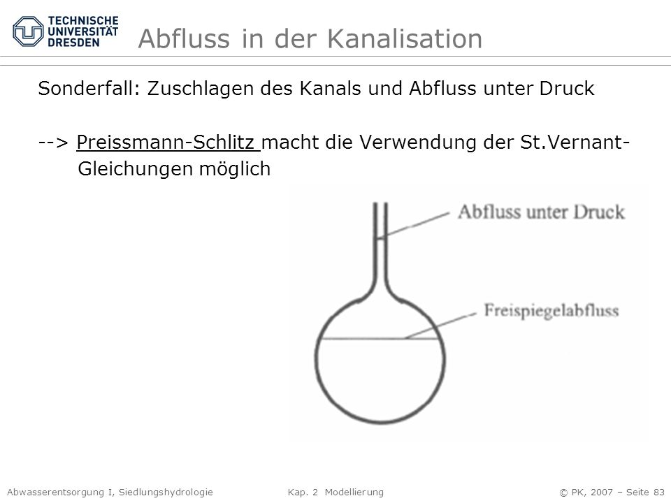 Abfluss in der Kanalisation
