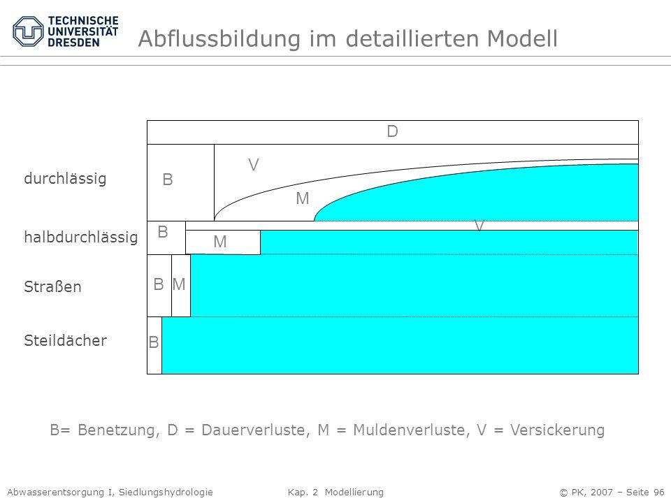 Abflussbildung im detaillierten Modell