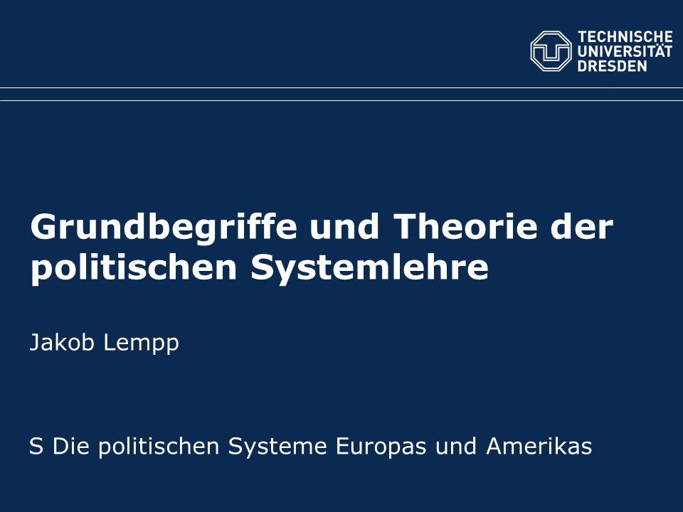 Grundbegriffe und Theorie der politischen Systemlehre Jakob Lempp