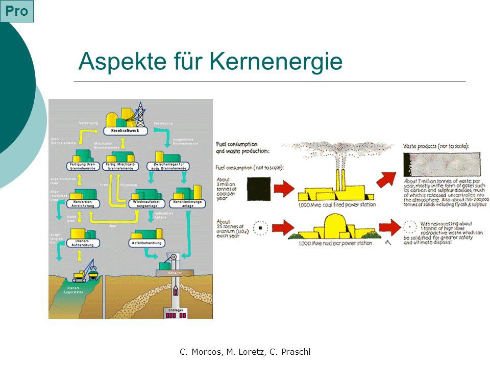 Aspekte für Kernenergie