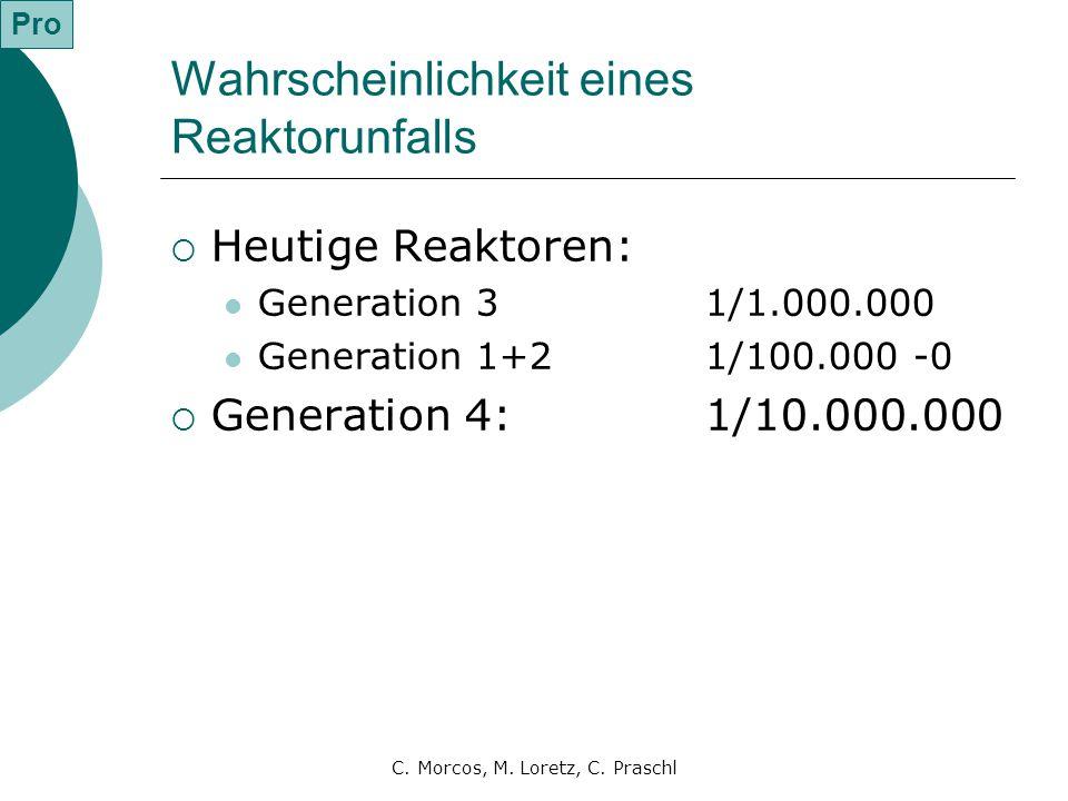 Wahrscheinlichkeit eines Reaktorunfalls
