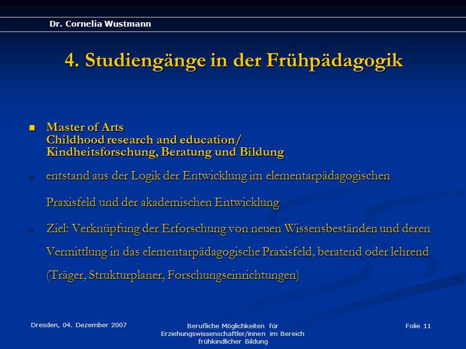 Erziehungswissenschaften Berufsfelder