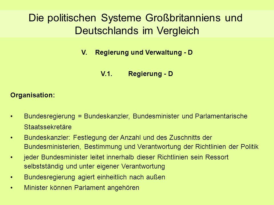 Regierung und Verwaltung - D