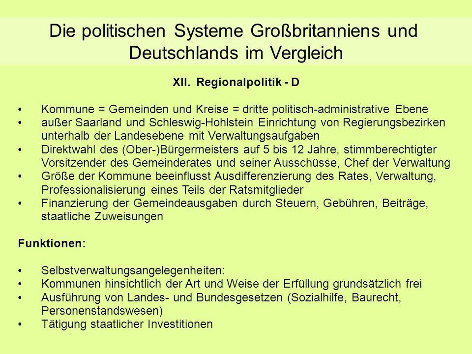XII. Regionalpolitik - D