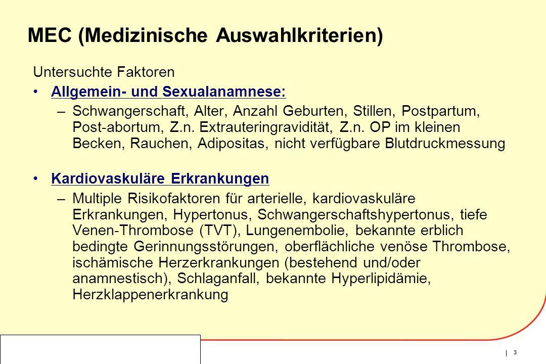 MEC (Medizinische Auswahlkriterien)