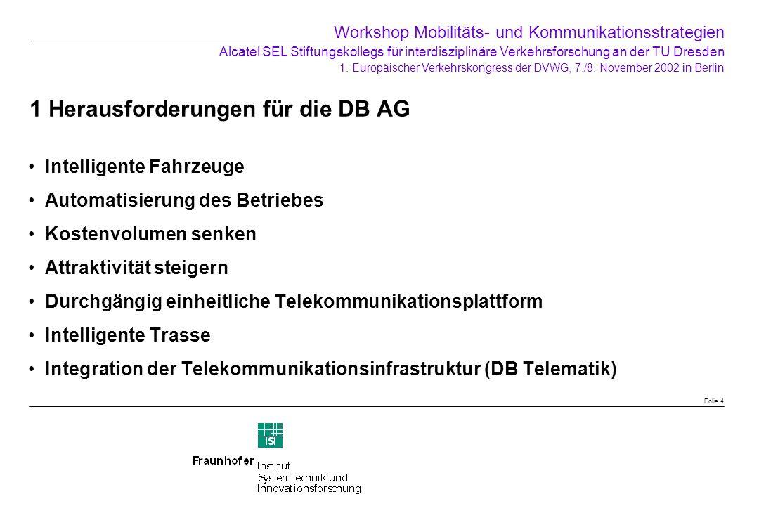 1 Herausforderungen für die DB AG