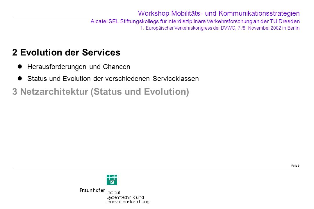 2 Evolution der Services