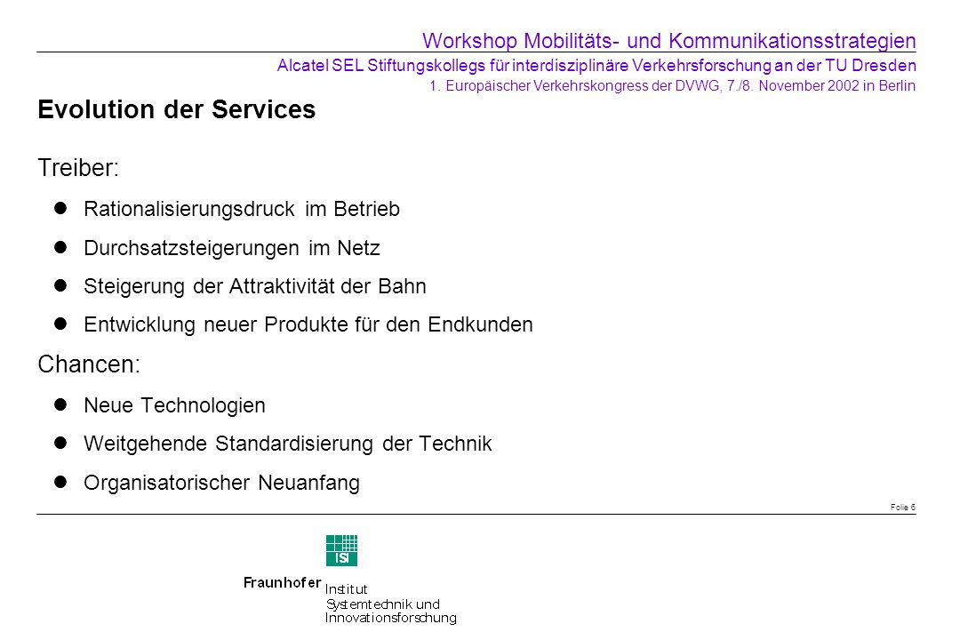 Evolution der Services
