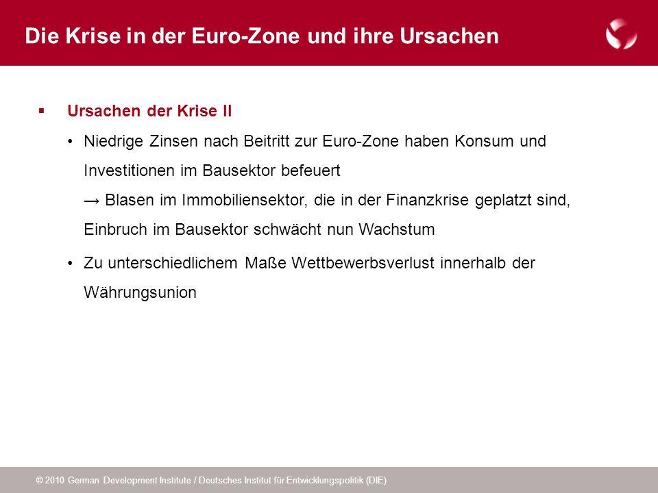 Die Krise in der Euro-Zone und ihre Ursachen